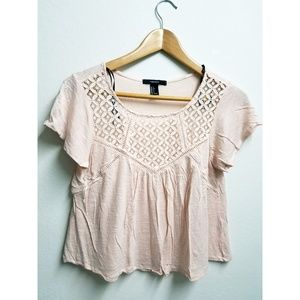 Forever 21 Baby doll blush Top Cute Size Small